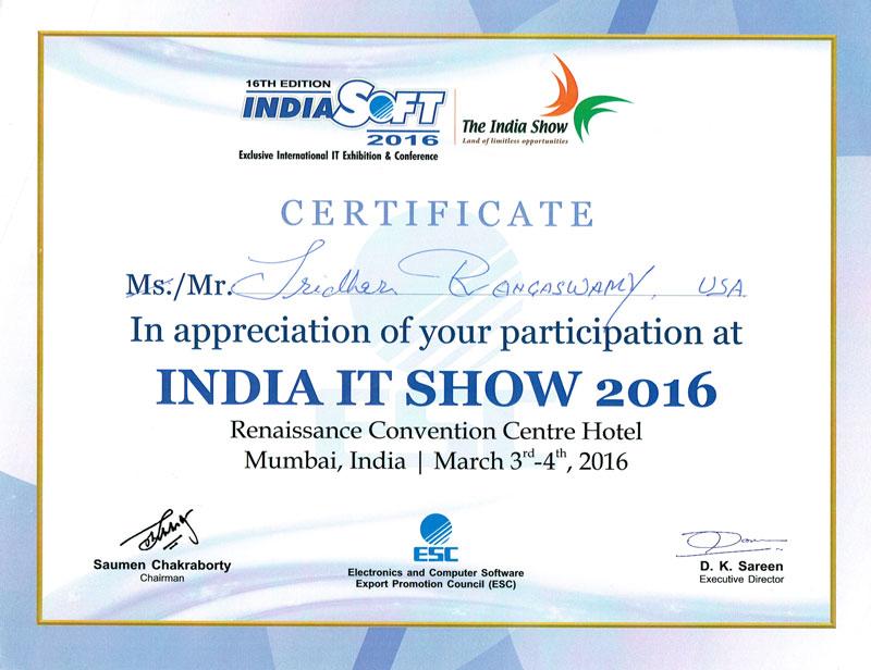 IndiaSoft 2016